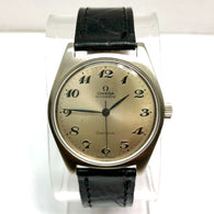 OMEGA Automatic Stainless Steel Men's Watch New Black Patent Band