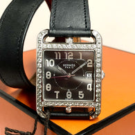 HERMÈS CAPE COD MAXI Men's/Unisex Watch 2.51TCW DIAMONDS Hermès Double Tour Band