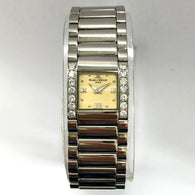 BAUME & MERCIER Swiss Quartz Steel Ladies Watch Diamond Bezel 0.8TCW
