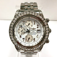 BREITLING Chronograph Tachymeter Automatic Steel Men's WATCH w/ DIAMONDS