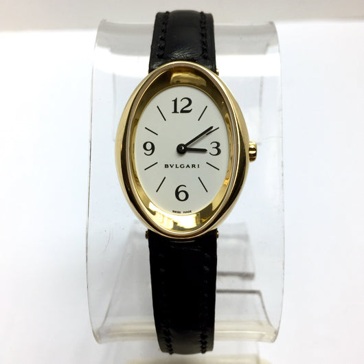BVLGARI 18K Yellow Gold Ladies Watch Arabic Numerals Bvlgari Band