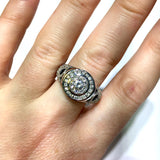 New 14K White Gold 1.09TCW F-G VS Round Cut Natural DIAMONDS Men's Ring 6.1g
