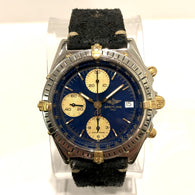 BREITLING 1884 CHRONOMAT 2nd Series 18K Yellow Gold & Steel Men's Watch