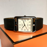 HERMÈS CAPE COD PM Steel Unisex Watch 16.5 Inches HERMES Double Tour Band