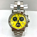 RAYMOND WEIL W1 Chronograph Date Stainless Steel Men's Watch Yellow Dial