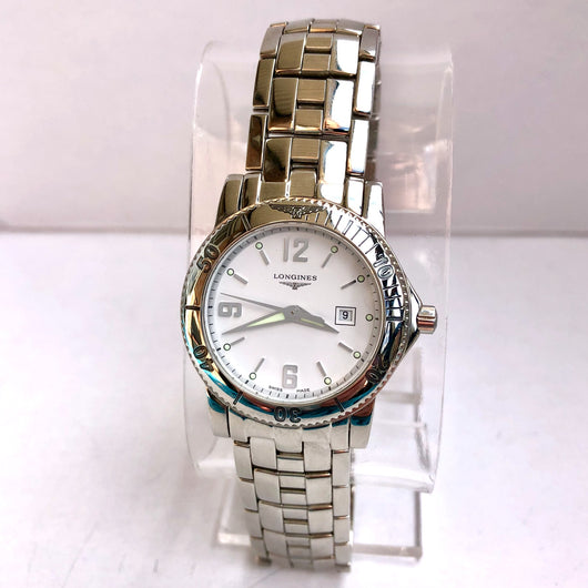 LONGINES ADMIRAL Date Quartz Stainless Steel Ladies Watch In Box