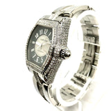 CARTIER ROADSTER 2510 Automatic Steel Men's/Unisex Watch 4.92TCW DIAMOND Bezel & Bracelet