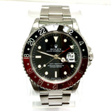 ROLEX OYSTER PERPETUAL DATE GMT-MASTER Steel Men's Watch Box & Papers
