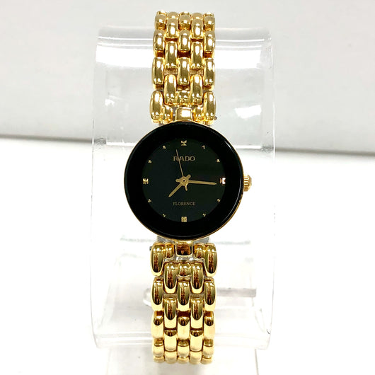 RADO FLORENCE Quartz 18K Gold Electroplated & Steel Ladies Watch