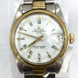 ROLEX OYSTER PERPETUAL DATE 18K Yellow Gold & Steel Men's/Unisex Watch