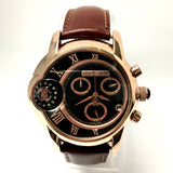 ROBERTO CAVALLI Caractere Chronograph Day/Date 45mm Rose Gold Steel Watch