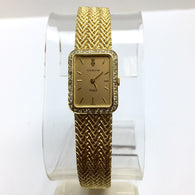 CORUM Quartz 18K Solid Yellow Gold Ladies Watch DIAMOND Bezel
