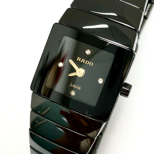 RADO DIASTAR JUBILÈ Steel, Black High-Tech Ceramics & Titanium Ladies Watch Factory Diamonds