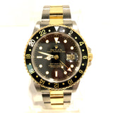 ROLEX OYSTER PERPETUAL Date GMT-Master II 2 Tone Men's Watch Oyster Bracelet