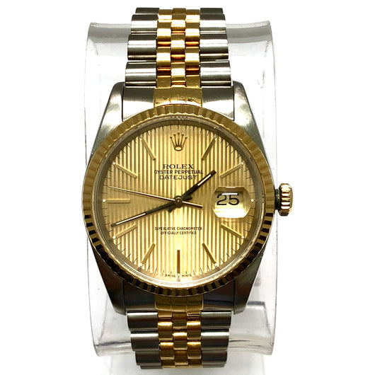 ROLEX OYSTER PERPETUAL DATEJUST 18K Yellow Gold & Steel Men's/Unisex Watch