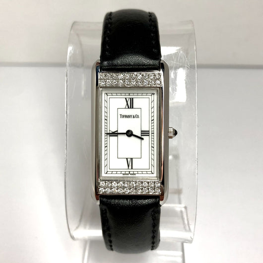 TIFFANY & CO. Quartz Steel Ladies Watch 0.39TCW F-G VS-SI DIAMONDS