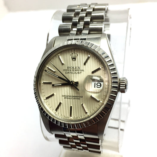 ROLEX OYSTER PERPETUAL DATEJUST 36mm Steel Men's/Unisex Watch w/ CERTIFICATE