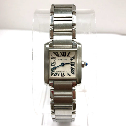 CARTIER TANK FRANCAISE Quartz Stainless Steel Ladies Watch