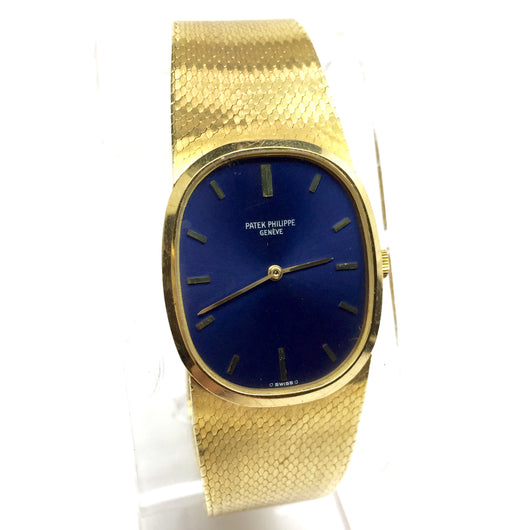 PATEK PHILIPPE 18K Yellow Gold Men's/Unisex Watch w/ Blue Dial