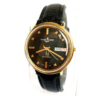 ULYSSE NARDIN Automatic Day(Italian) Date 18K Gold Filled & Steel Men's Watch