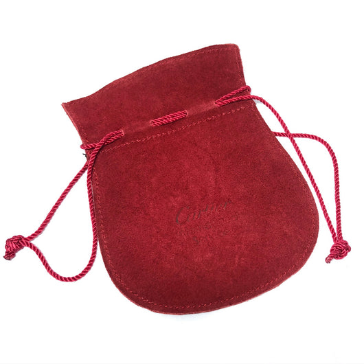 "CARTIER POUCH 4.25x5.5"" Red Genuine Suede Leather, clean"