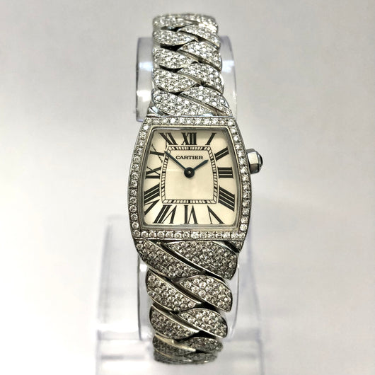 CARTIER LA DONA Quartz Steel 3.05TCW Diamond Ladies Watch