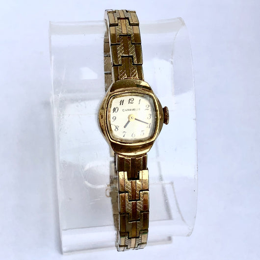 CARAVELLE Hand-Winding Gold Plated & Steel Ladies Watch Swiss Made