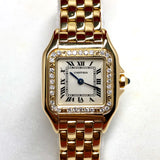 CARTIER PANTHERE Quartz 18K Yellow Gold F-G VS-SI DIAMONDS Ladies Watch