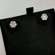 14K White Gold 0.47 TCW F-G VS 14 Natural Round DIAMONDS Studs Earrings 1.3g