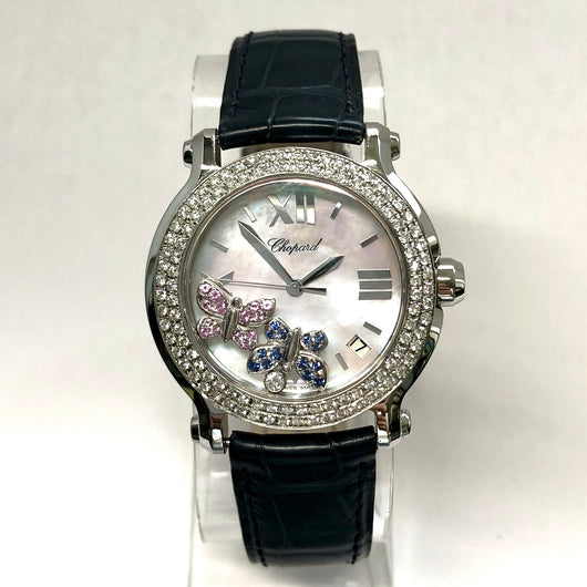 CHOPARD HAPPY SPORT 36mm Steel Ladies Watch Floating Butterflies