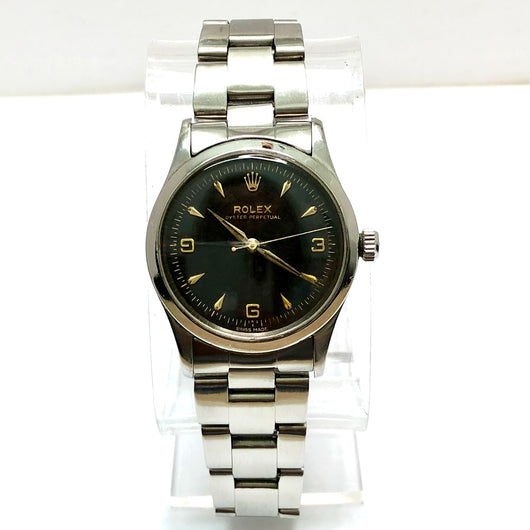 ROLEX OYSTER PERPETUAL Stainless Steel Men's Watch Oyster Bracelet