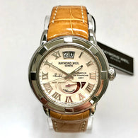 New RAYMOND WEIL PARSIFAL Reserve De Marche 42H Automatic Steel Mens Watch Skeleton Backcase