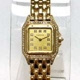 CARTIER PANTHERE 18K Yellow Gold Ladies Watch ALL FACTORY DIAMONDS