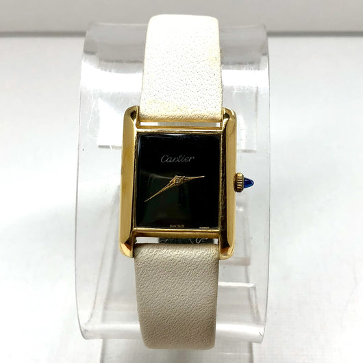 CARTIER TANK Hand-Winding 18K Gold Electroplated Ladies Watch