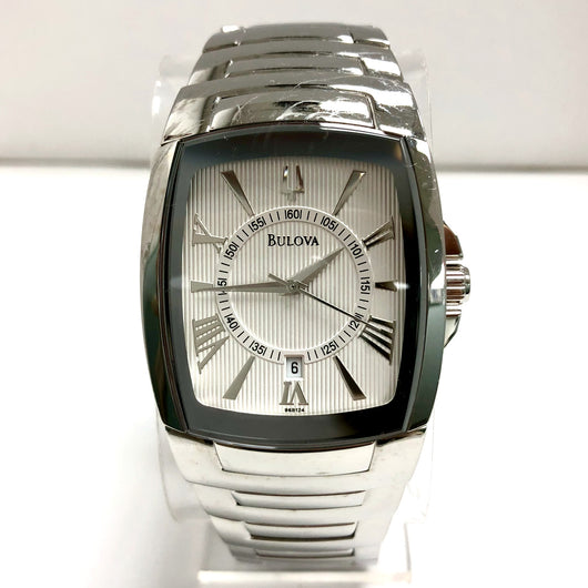 BULOVA Date Quartz Stainless Steel Men's Watch Water Resistant