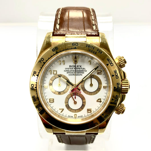ROLEX DAYTONA Cosmograph 18K Yellow Gold Men's Watch 116518