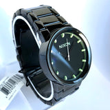 NIXON SHOOT TO THRILL THE CANNON 40mm Black Steel Mens Watch 100M Japan Movement
