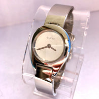 GUCCI Quartz Glossy Stainless Steel Ladies Watch Mirror Dial Swiss Made