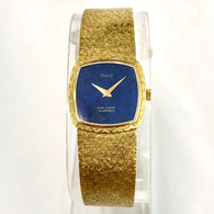 PIAGET VAN CLEEF & ARPELS 18K YG Lapis Dial Ladies Watch