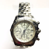 BREITLING Chronograph Chronometer Automatic Steel Men's WATCH Rotating Bezel