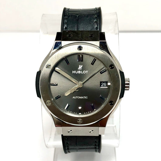 HUBLOT CLASSIC FUSION Automatic Titanium Unisex Watch SKELETON Backcase