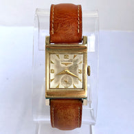 LONGINES Hand-Winding 10K Gold Filled Men's Watch LONGINES Buckle 17 Jewels