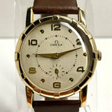 OMEGA Manual Wind 10K Gold Filled Men's Watch New Brown Band