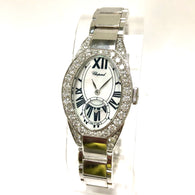 CHOPARD 18K White Gold Ladies Watch with Factory Diamonds Retail $42,900