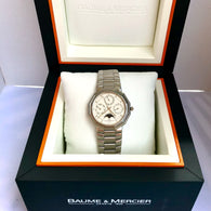 BAUME & MERCIER Day Date Month Moon Phase Quartz Steel Men's/Unisex Watch