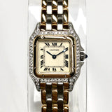 CARTIER PANTHÉRE 22mm 3 Row Gold Ladies Watch Diamond Case 0.54TCW