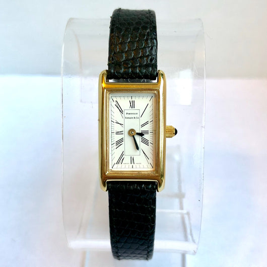 TIFFANY &Co. PORTFOLIO Quartz Goldplated Ladies Watch T&Co. Band