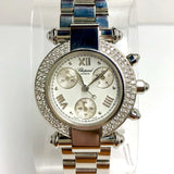 CHOPARD IMPERIALE Chronograph Quartz Steel Ladies Watch 0.83TCW F-G VS-SI DIAMONDS