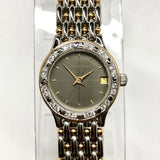 AUDEMARS PIGUET Quartz 18K Yellow Gold & Steel Ladies Watch Diamond Bezel