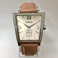 CORUM TRAPESE Quartz Steel Ladies Watch Factory DIAMONDS